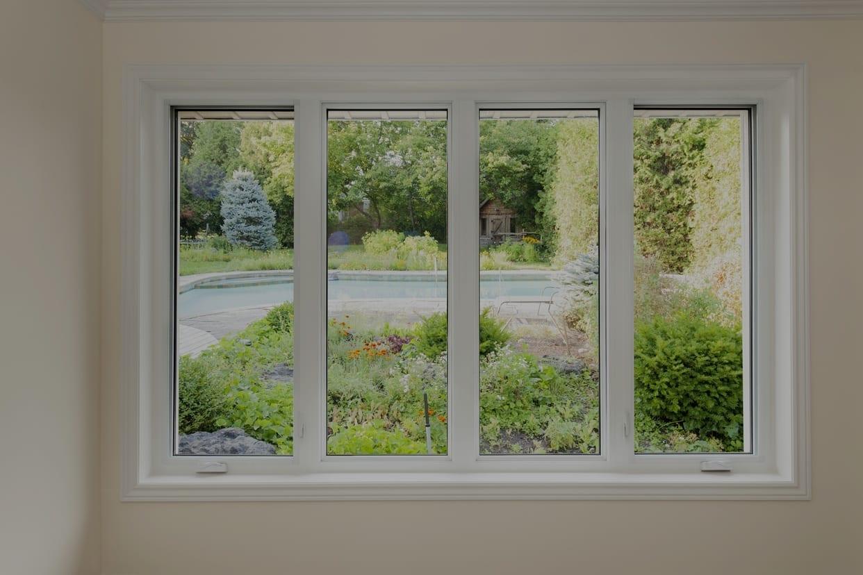 Windows facing Backyard